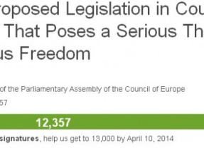 More than 10 000 demand Council of Europe stop anti-religious recommendations