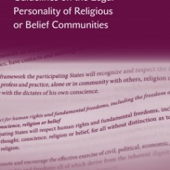 ODIHR/Venice Commission Guidelines on the Legal Personality of Religious or Belief Communities