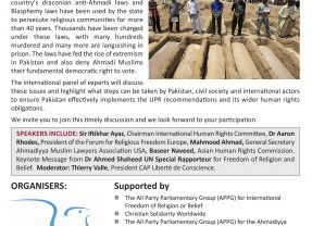 United Nations Universal Periodic Review: The denial of Religious Freedom in Pakistan