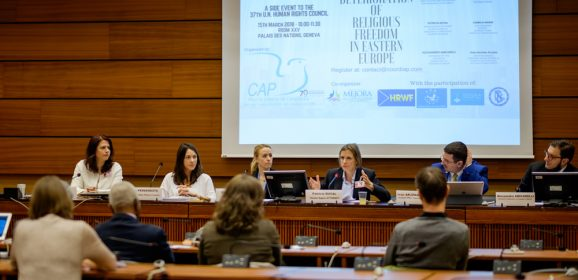 CAP LC organise à l'ONU une conférence sur la détérioration de la liberté religieuse en Europe de l'Est