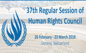 Oral statement at the 37th session of the Human Rights Council : Religious Freedom and persecution in China:  The case of the Church of Almighty God