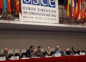 Side-event OSCE HDIM 2018 : Freedom of Belief, No Discrimination and Telorance in the OSCE area