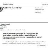 39th HRC session written statement: Protection for the Non-Muslim Religious Minorities of Afghanistan