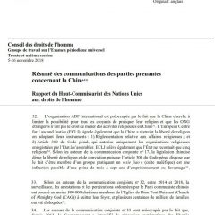 Les droits de l'Homme en Chine, sujet d'examen à l'ONU