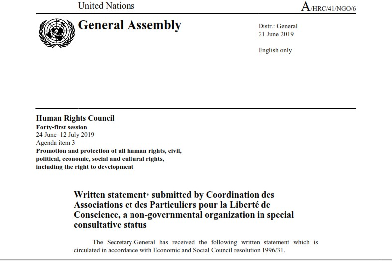 HRC 41 written statement : Misuse and Abuse of the Pre-trial